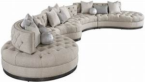 oversized dove grey sectional with curved lines tufted With dove grey sectional sofa