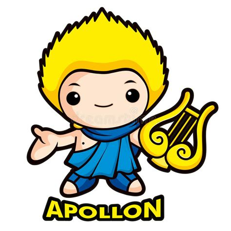 apollo de god van de zon stock illustratie illustratie