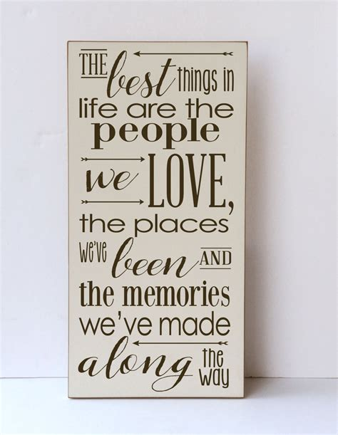 best things in we wood sign inspirational