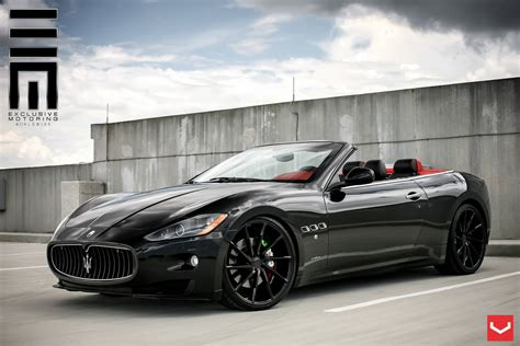 maserati granturismo blacked out murdered out maserati granturismo custom 22 quot vossen cvt