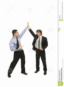 Businessmen Give A High Five Stock Image - Image: 2386309