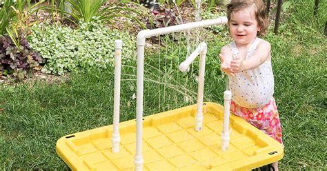 diy water table  fountains  sprayers