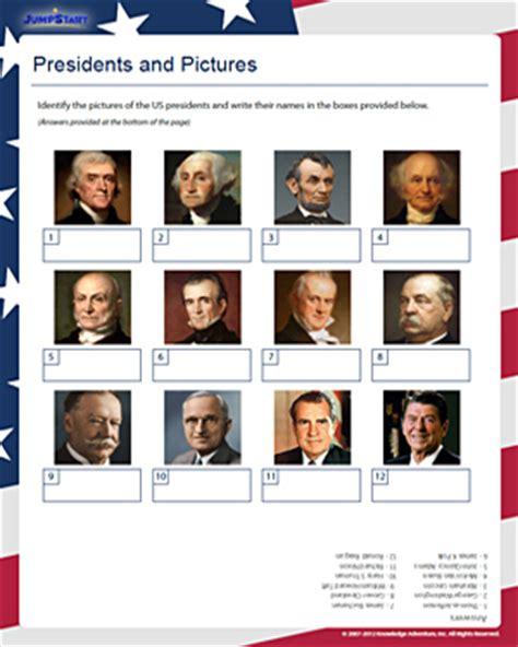 identify these presidents free presidents day worksheets