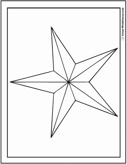 Coloring Star Pages Nautical Printable Pdf Colorwithfuzzy
