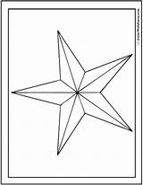 Coloring Star Nautical Pdf sketch template