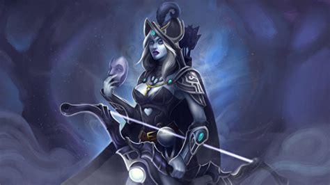 fonds decran dota  drow ranger archers guerrier masque jeux fantasy telecharger photo
