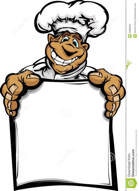 cuisine de a z chef carte de sourire de fixation de chef de cuisine de dessin