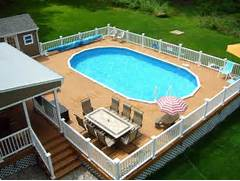 Swimming Pool Ideas With Deck Patio Ideas With Above Ground Pool Landscaping Gardening Ideas