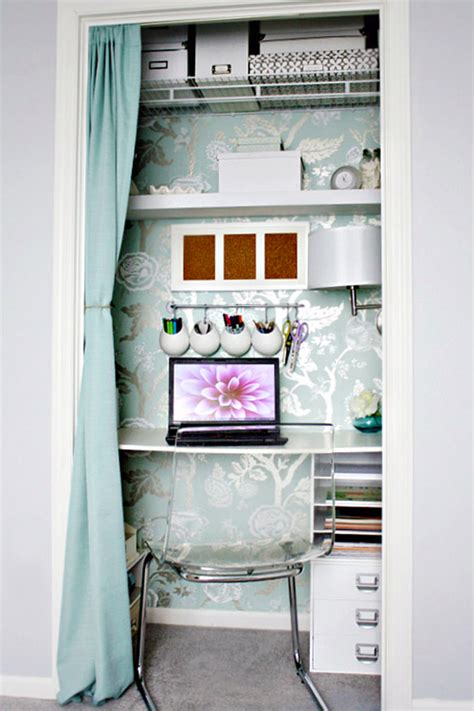 Turning A Closet Into An Office by 20 Ideas To Turn That Boring Closet Into Something