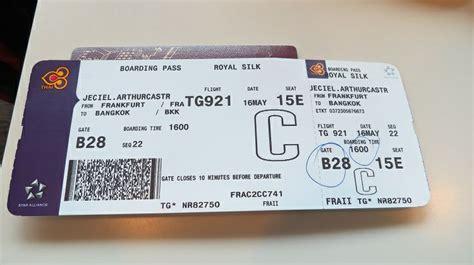 thai airways boarding pass   thai airways airline