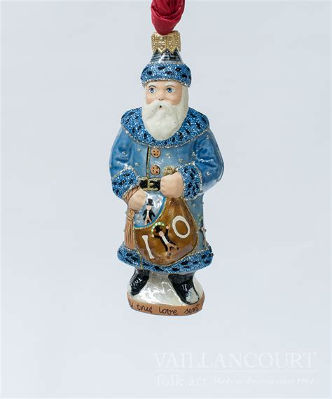 10th day of christmas glimmer ornament from vaillancourt