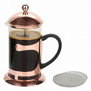 French Press Kaffeepulver : pococina eleganter french press kaffeebereiter kaffee und teekanne mit edelstahlfilter ~ Orissabook.com Haus und Dekorationen
