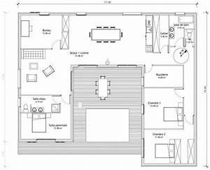 maison en u avec patio architecture autre que maisons With plan maison avec patio