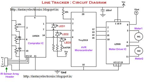 Fantasyelectronics Line Following Robot Tracker
