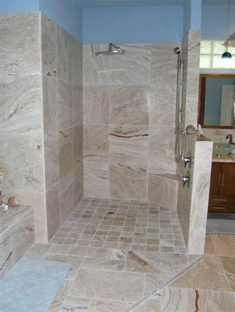 popular bathroom tile shower designs leonardo travertine tiles coastal bathroom ta