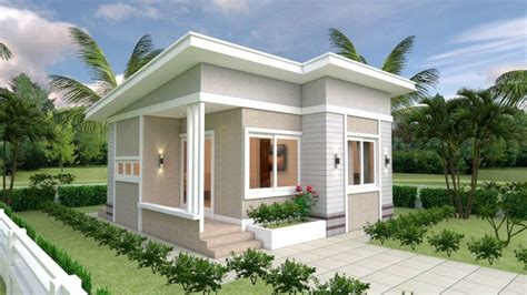 House Design Plans 7x7 with 2 Bedrooms in 2020 Small