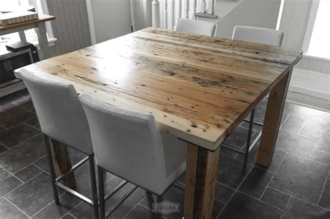 modele de table de cuisine en bois l 39 usine québec meubles cuisines et bois récupéré