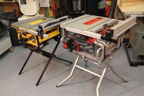 Bosch Vs Dewalt Portable Jobsite Table Saw Stand