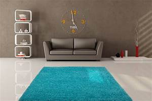 tapis de salon uni en polypropylene bleu clair hollywood With tapis salon uni