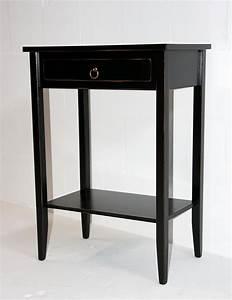 Beistelltisch Schwarz Holz : beistelltisch set 2 konsolentische holz massiv schwarz shabby chic ~ Orissabook.com Haus und Dekorationen