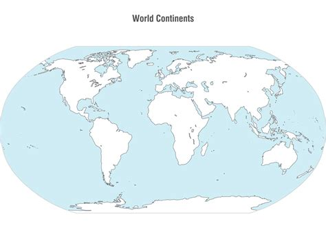World Continents Map Vector - Download Free Vector Art ...