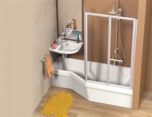 Baignoireet lavabo gain de place PlusDePlace fr