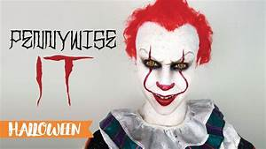 Maquillage Halloween Clown : maquillage d 39 halloween pennywise it a 2017 youtube ~ Melissatoandfro.com Idées de Décoration