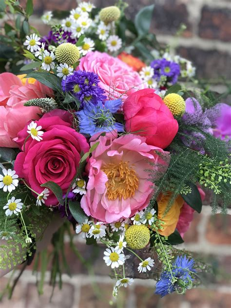 Bright And Colourful Wedding Bouquet Vibrant Bold