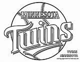 Coloring Twins Minnesota Vikings Printable Mn Baseball Getcolorings Sheets Visit sketch template