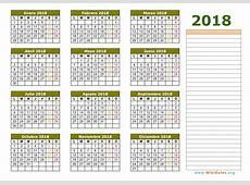 Calendario 20182019 En Espanol – 2018 Calendar Template