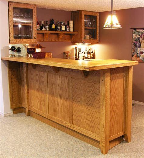 Home Bar Furniture Edmonton by Custom Oak Basement Bar Traditional Home Bar
