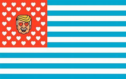 Flag American Vector Number National Election Trump