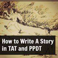 how to write a story in tat and ppdt