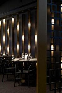 Restaurant Wooden Light Wall WALL TREATMENT SCREENS