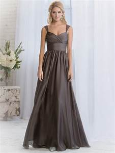 cheap modest sexy chiffon beading dark brown wedding guest With brown dresses for wedding