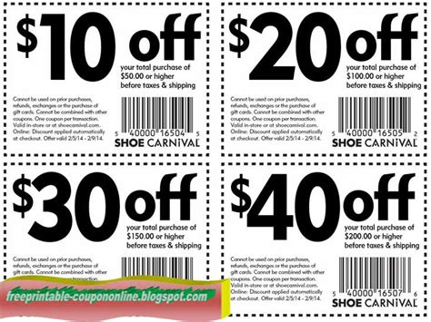 Shoes Coupon Printable Coupons 2018 Shoe Carnival Coupons