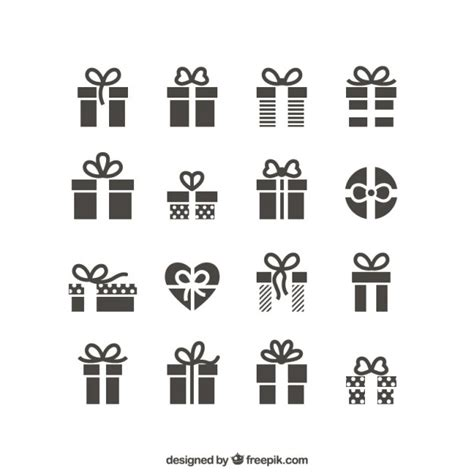 gift icons vector free download
