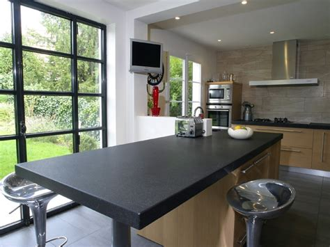plan de travail cuisine granit noir plan de travail cuisine granit noir et table centrale granit noir plan de travail cuisine et