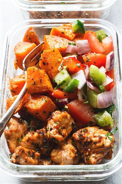 meal prep roasted chicken  sweet potato eatwell