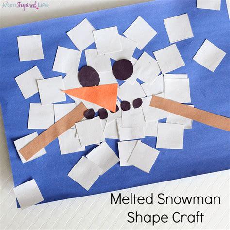 preschool snowman craft melted snowman shape craft collage 270