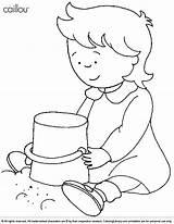 Caillou Coloring Rosie Colorear Castelo Areia Desenho Sandbox Fazendo Ausmalbilder Colorir Imprimir Library Pintar Getcolorings Popular Clipart Tudodesenhos Clip Printable sketch template