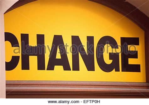 bureau de change prague a bureau de change sign advertising the present exchange