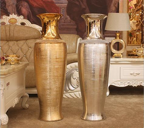 Large Silver Vases Wholesale by 90cm Gold Silver Floor Vase For Home Decoration And