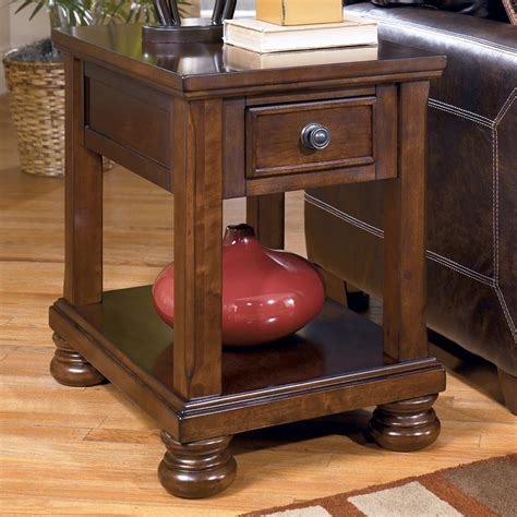 signature design by porter chairside end table
