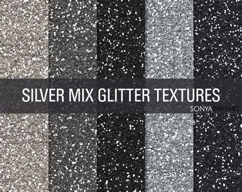 mixed silver glitter textures textures creative market