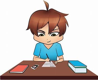 Homework Clipart Exam Transparent Test Clip Cartoon