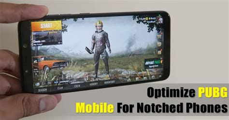 how to optimize pubg mobile for notched smartphones