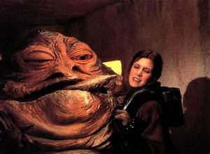 Image - Jabba Extends his Tongue to Leia.jpg | Slave Leia ...