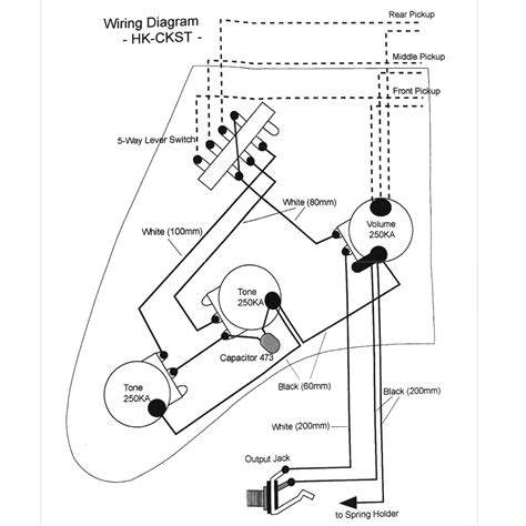 Wiring Kit For Strat Type Guitars With Diagram