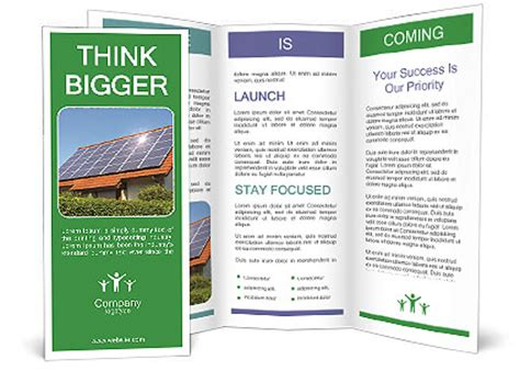 4 Panel Brochure Template Word How To Change The Publisher Solar Panel On Roof Brochure Template Design Id